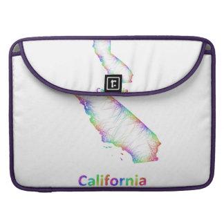 Rainbow California map Sleeve For MacBooks