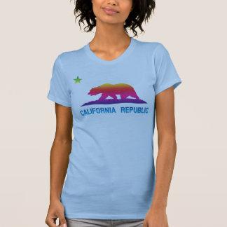 Rainbow California Republic Flag T Shirts