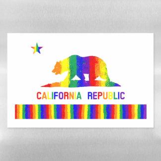 Rainbow California State Flag Magnetic Dry Erase Sheet
