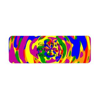 Rainbow Camouflage Sphere Label