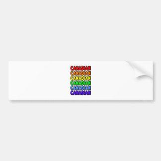 Rainbow Canadian Bumper Sticker