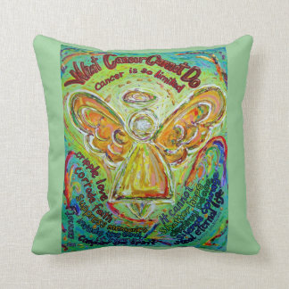 Rainbow Cancer Angel Decorative Throw Pillow
