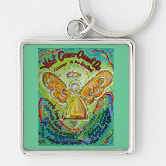 Rainbow Cancer Angel Painting Keychain Pendant