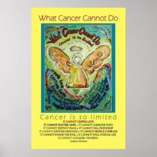 Rainbow Cancer Angel Poster
