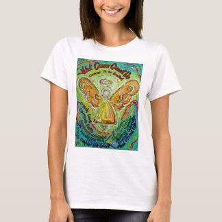 Rainbow Cancer Cannot Do Angel Art T-shirt