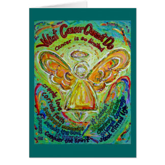 Rainbow Cancer Cannot Do Angel Greeting Cards