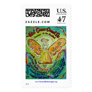 Rainbow Cancer Cannot Do Angel Postage Stamp