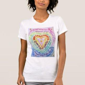 Rainbow Cancer Heart and Cancer Cannot Do Shirt