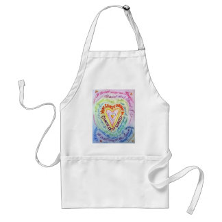 Rainbow Cancer Heart Apron