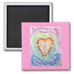Rainbow Cancer Heart Magnet