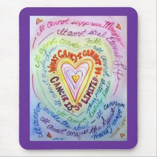 Rainbow Cancer Heart Mousepad