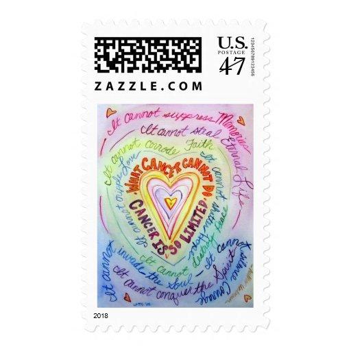 Rainbow Cancer Heart Stamp