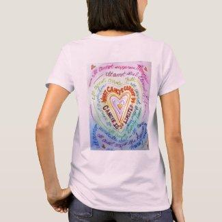 Rainbow Cancer Heart T-shirt
