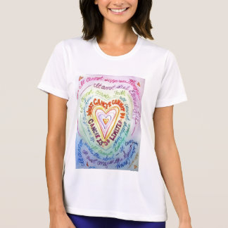 Rainbow Cancer Heart T-shirt (front)
