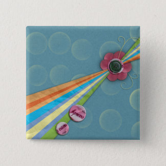 rainbow candy background pinback button