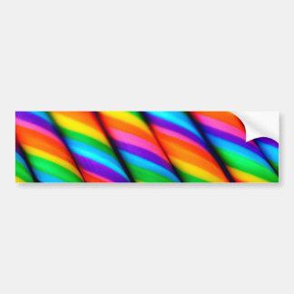 Rainbow Candy Canes 2 Car Bumper Sticker