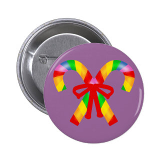 Rainbow Candy Canes Buttons