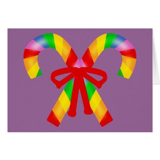 Rainbow Candy Canes Card