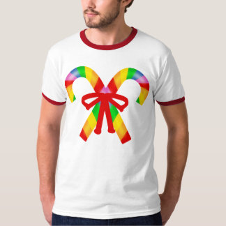 Rainbow Candy Canes T Shirt