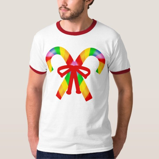 Rainbow Candy Canes T-Shirt