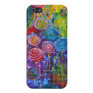 Rainbow Candy Colorful Swirls Art Design iPhone SE/5/5s Case