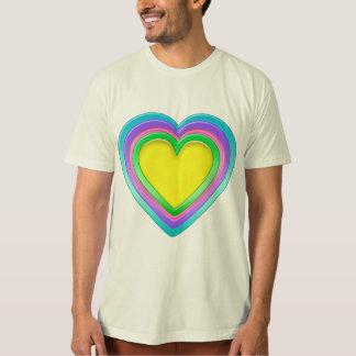 Rainbow Candy Heart Organic Plus T-Shirt