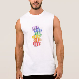 Rainbow Candy Men's Cotton Sleeveless T Shirt