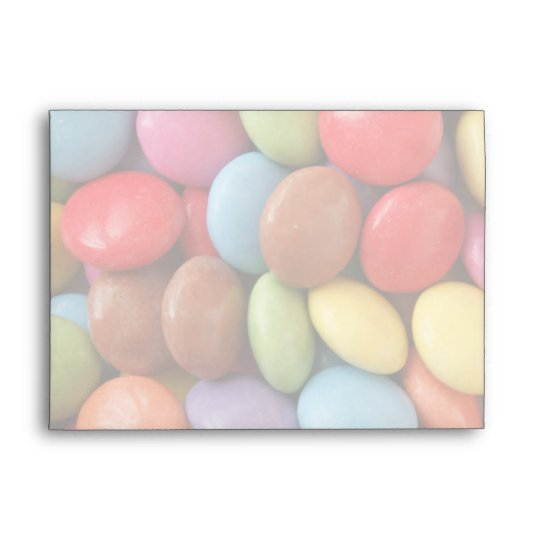 rainbow candy party envelope