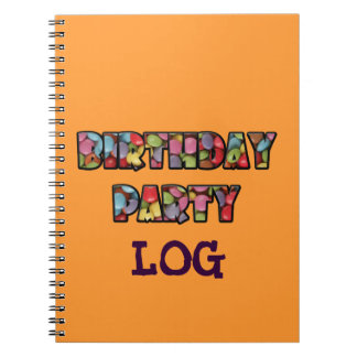 rainbow candy party note books