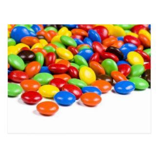 Rainbow candy postcard