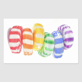 Rainbow Candy Rectangle Stickers