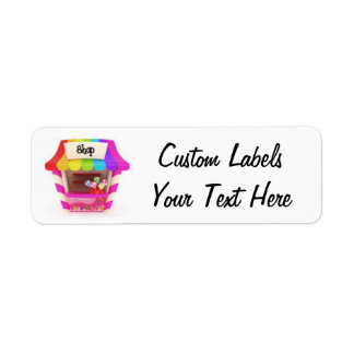 Rainbow Candy Shop Label