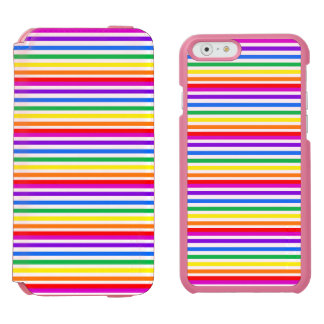 Rainbow Candy Stripes iPhone 6/6s Wallet Case