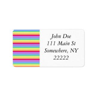 Rainbow Candy Stripes Label