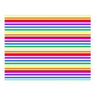Rainbow Candy Stripes Postcard