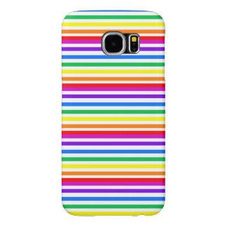 Rainbow Candy Stripes Samsung Galaxy S6 Case