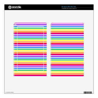 Rainbow Candy Stripes Decals For Kindle Fire