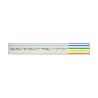 Rainbow Candy Stripes Wrap Around Address Label