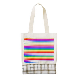 Rainbow Candy Stripes Zazzle HEART Tote Bag