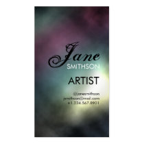 canvas, rainbow, multicolored, colorful, clouds, smoke, light, painting, abstract, Business Card with custom graphic design
