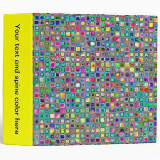 Rainbow 'Carnival' Textured Mosaic Tiles Pattern Binder