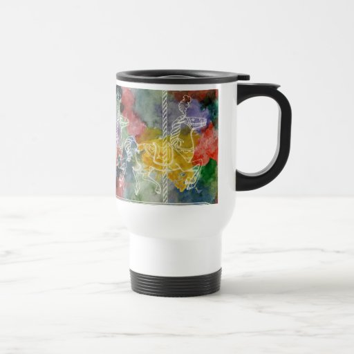 Rainbow Carousel Coffee Mug