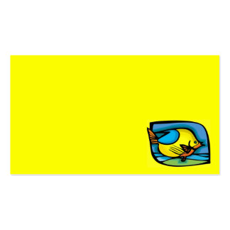 RAINBOW CARTOON FISH BLUE YELLOW VECTOR GRAPHIC SE BUSINESS CARD