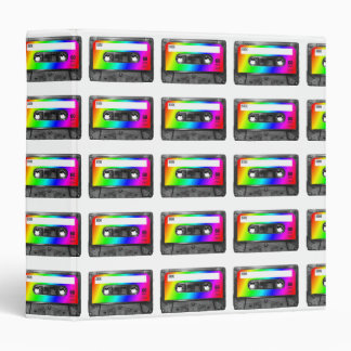 Rainbow Cassette Tape Binder