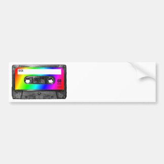 Rainbow Cassette Tape Car Bumper Sticker
