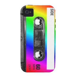 Rainbow Cassette Tape Vibe iPhone 4 Cases