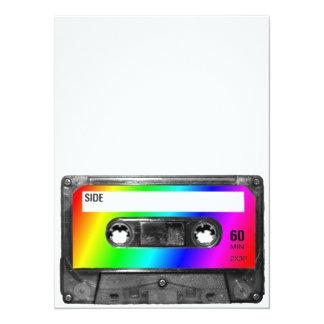 Rainbow Cassette Tape Invites