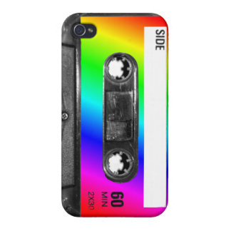 Rainbow Cassette Tape Cases For iPhone 4