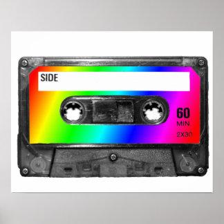 Rainbow Cassette Tape Posters