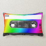 Rainbow Cassette Tape Throw Pillow